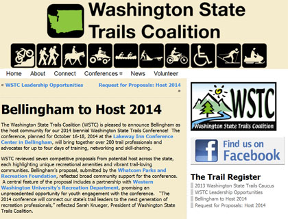 Bellingham to host 2014 WA State Trails Conference